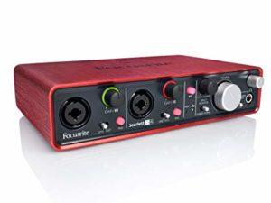 interfaz de audio para estudio de grabación